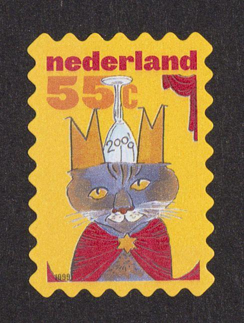 Postzegel Nederland 1999 Decemberpostzegels: Milleniumkater