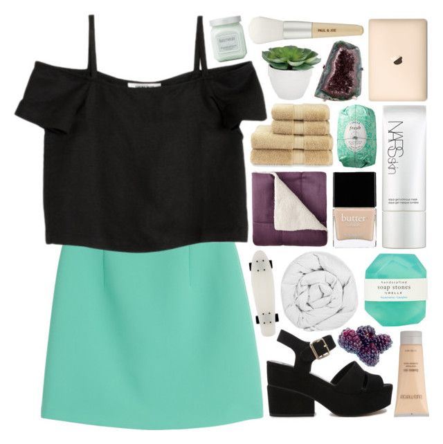 """""""~ almost pure ~"""" by it-was-meant-to-be ❤ liked on Polyvore featuring McQ by Alexander McQueen, Shaina Mote, ASOS, Laura Mercier, Pelle, Torre & Tagus, The Fine Bedding Company, Christy, Paul & Joe and Butter London"""