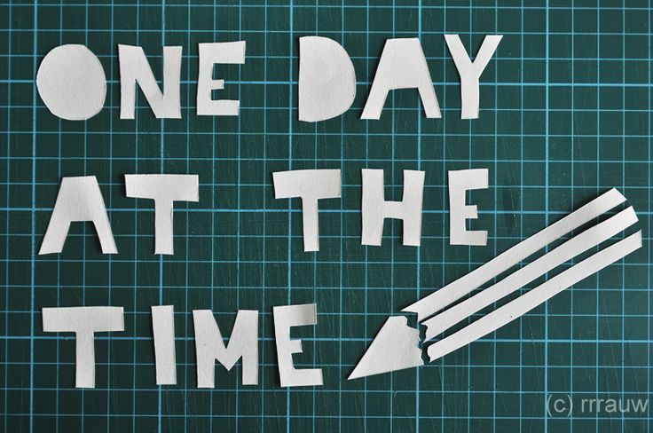 Illustrated quote: One day at the time