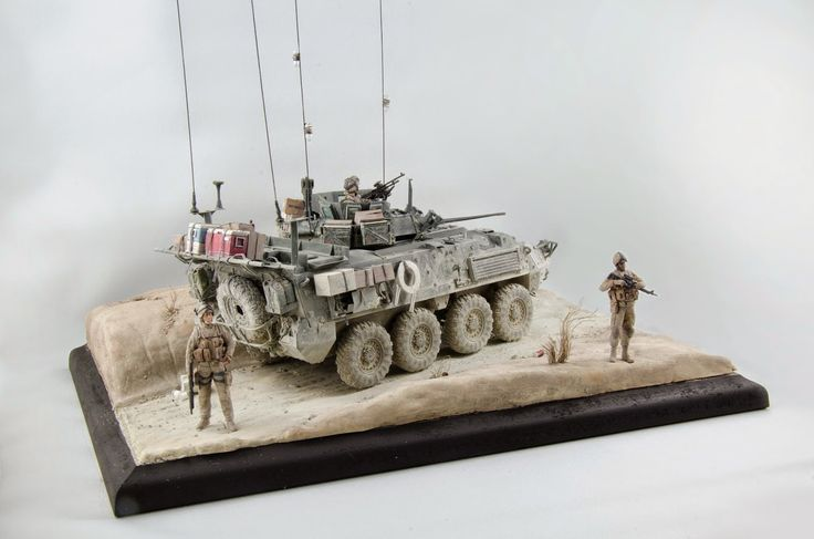 After having endured the dirty looks of my LAV model for the last 6 months, I finally got back to the diorama this week and finished it off...