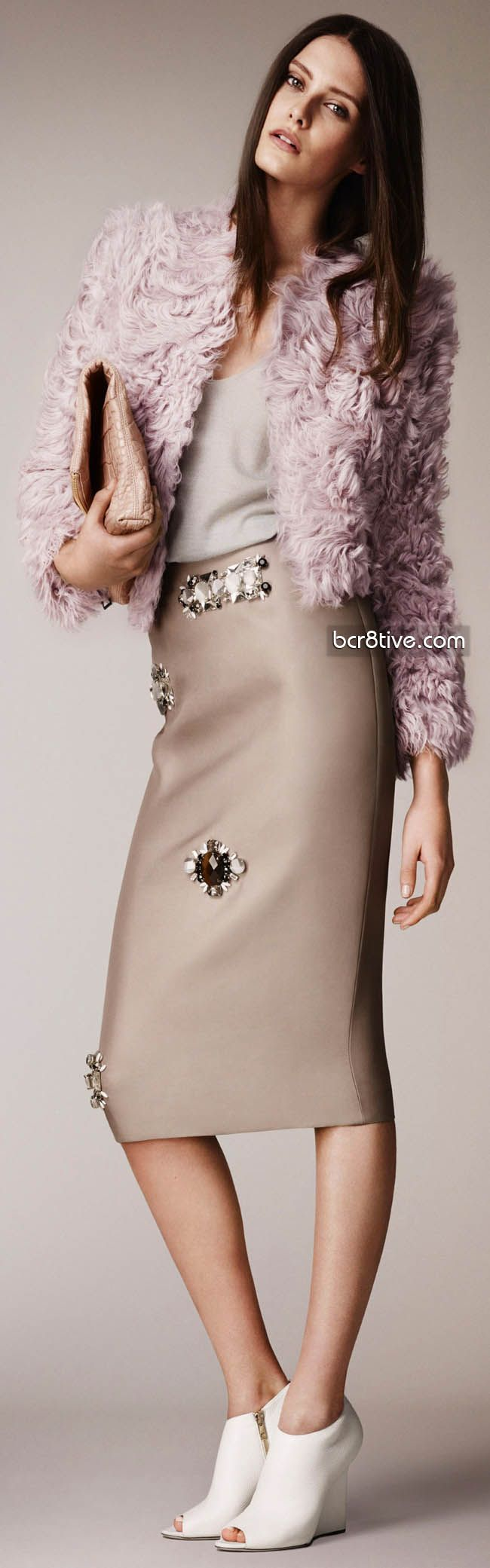 Burberry Prorsum Pre Spring 2014 Collection ~ Like the outfit...NOT the shoes