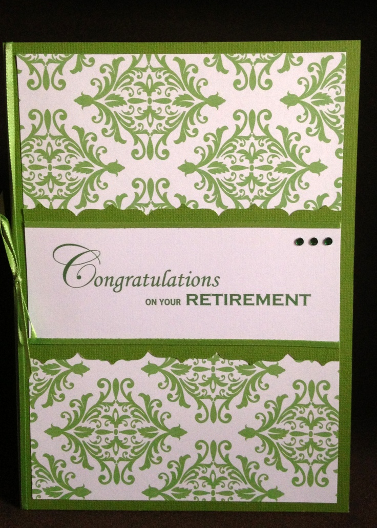 Card Making Ideas Retirement Part - 30: Retirement Card