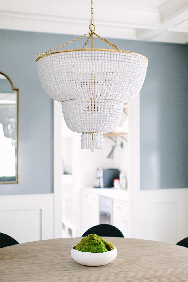 gorgeous beaded chandelier for above dining table