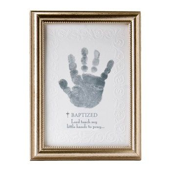 such a sweet baptism idea Lord teach my little hands to pray.