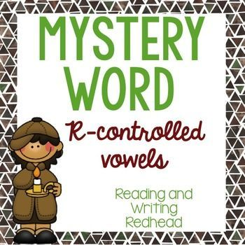 Mystery Word: R Controlled Vowels: Brand New Mystery Word product for r controlled vowels! Includes task cards and more.  For more like this check out my Pin Board https://www.pinterest.com/rwredhead/reading-and-writing-redheads-teachers-pay-teachers & sign up for my monthly newsletter for a freebie: eepurl.com/DFyuj