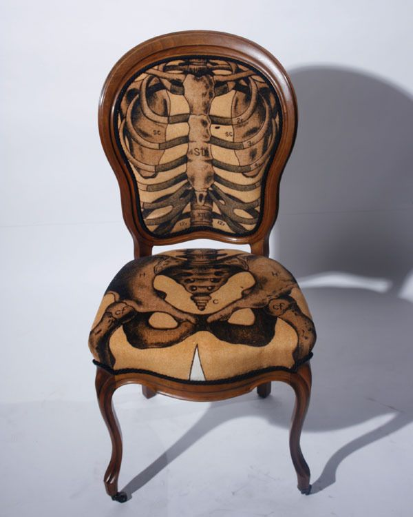 Anatomically Correct Chair   Sam Edkins: Skeletons Chairs, Dining Rooms, Skull, Anatomical Correction, Idea, Sam Edkin, Bones, Design, Correction Chairs
