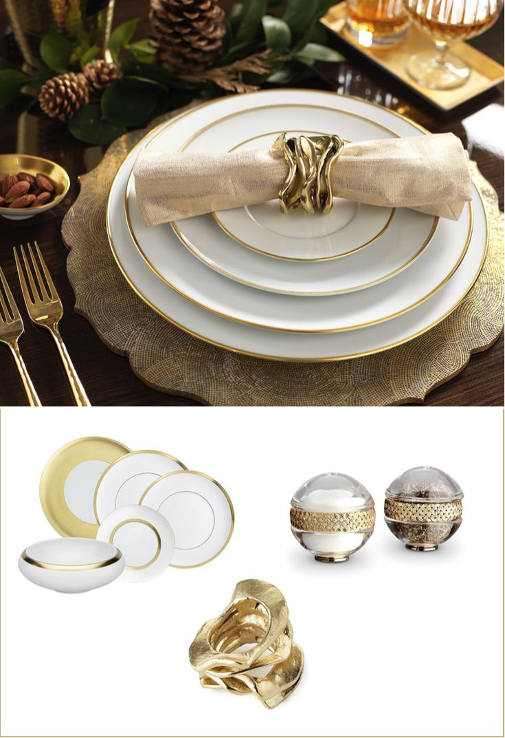Luxurious gold tableware designs - - Luxury Christmas designs and inspiration from Luxdeco. Injecting Festive glamour into the home.