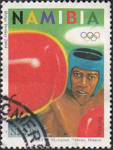 Stamp: Boxing (Namibia) (Olympic Games - Athens) Mi:NA 1140