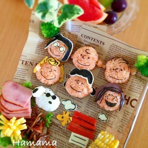 SNOOPY onigiri lunch