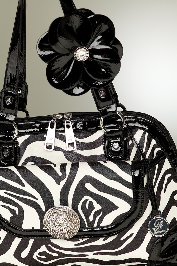 "Grace Adele ""Emma"" bag + ""Blossom"" clip-on, in black  www.bethpearce.graceadele.us"