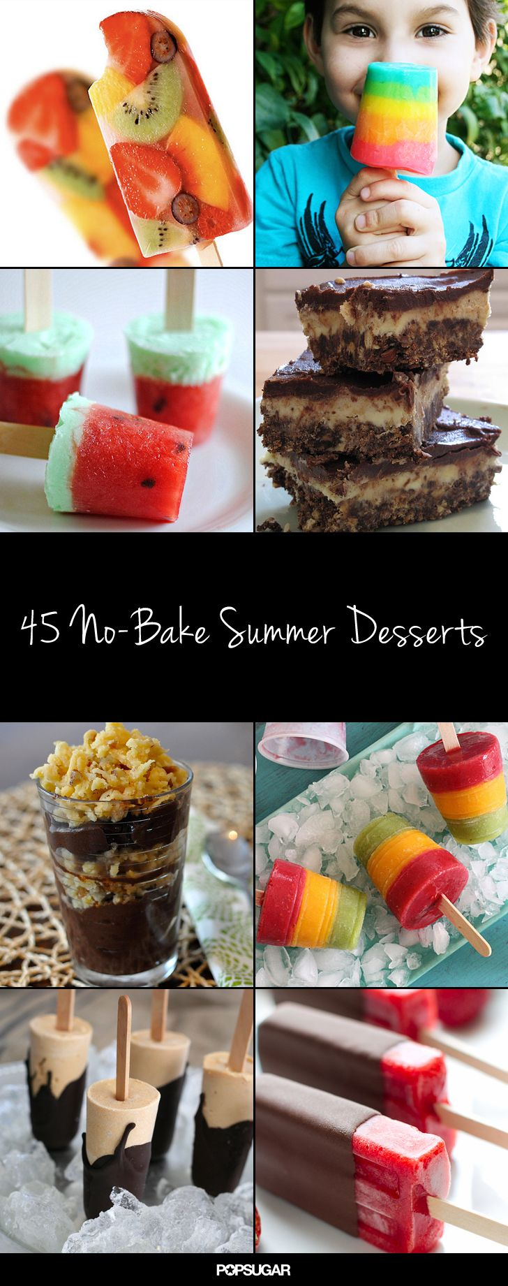 45 Delicious No-Bake Summer Dessert Ideas - Absolutely love these and the majority of the recipes are additive and preservative free or very easily adaptable to be!