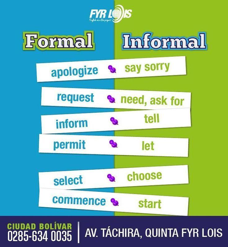 Formal/informal