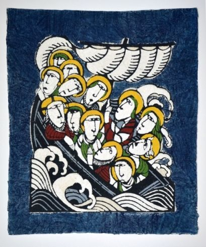 Watanabe, Boat in the Storm 1981 Blue 2.JPG