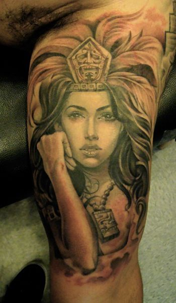 AZTEC PRINCES TATTOO DESIGNS httpwww   Pinterest