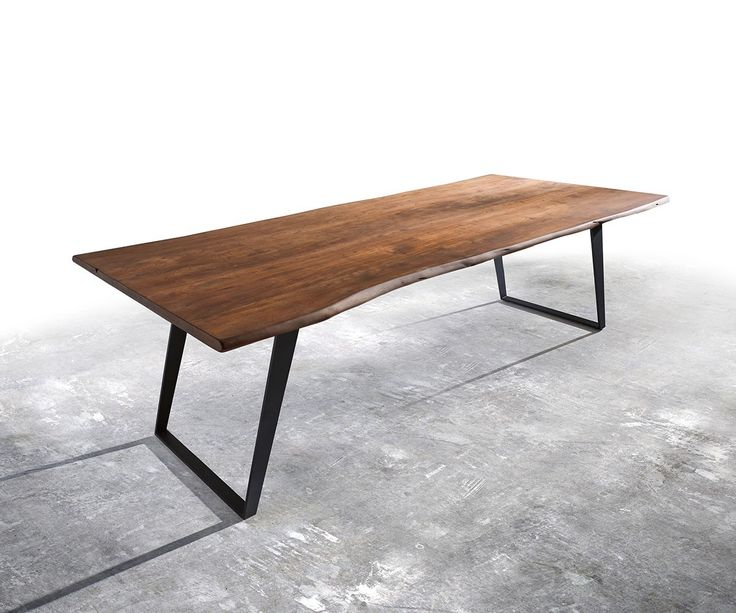 Massivholztisch Live Edge Akazie Braun Platte Gestell Schräg Baumtisch Für  U20ac   DELIFE # Kostenloser Versand # Zertifizierter Möbel Shop