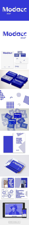 Royal blue MODACC Brand identity