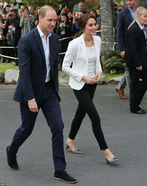William Duke of Cambridge and Catherine Duchess of Cambridge in Victoria Canada. October 1 2016