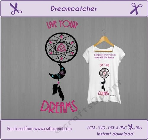 Dreamcatcher cut file girl t-shirt design svg cut file for cut machines by wendy van der vegt Dreamcatcher svg Dream catcher svg scanncut quotes svg svg cut file cricut cut file Dxf cut file FCM files girl t-shirt svg dreamsI try to design the files in a way that they are easy to use. This design is only 2 layers.The multi file contains 1 zip file- svg file- dxf file- fcm file- png fileReady to cu