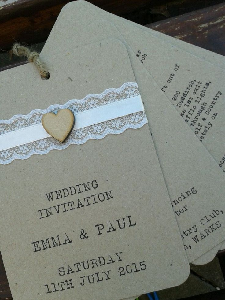 32 best wedding invitations images on Pinterest | Rustic shabby ...