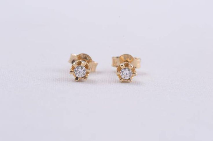 Cercei aur cu surub cadouri  bijuterii cu zircon