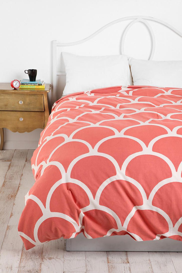 I like this duvet from Urban.  Reminds me of a mermaid tail or fish scales!  Comes in aqua too!