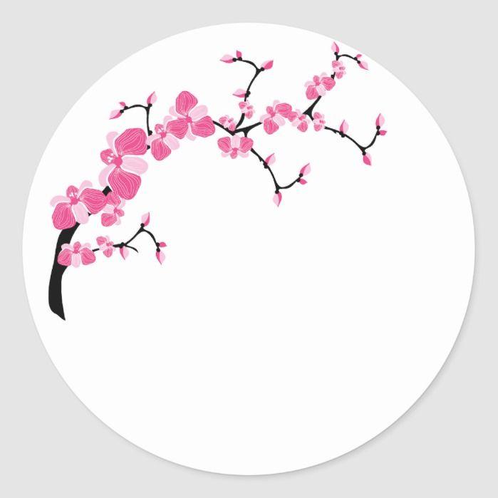 Cherry Blossom Tree Branch Stickers Zazzle Com In 2021 Cherry Blossom Tree Cherry Blossom Flowers Blossom Trees