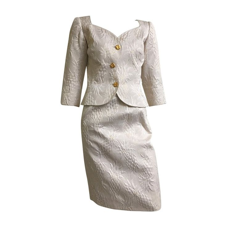 Ungaro 80s skirt suit size 6. | From a collection of rare vintage suits, outfits and ensembles at https://www.1stdibs.com/fashion/clothing/suits-outfits-ensembles/