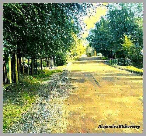 Título: Camino a casa - Fotografía intervenida - Potrero de los Funes, San Luis, Argentina - Autora: Alejandra Etcheverry