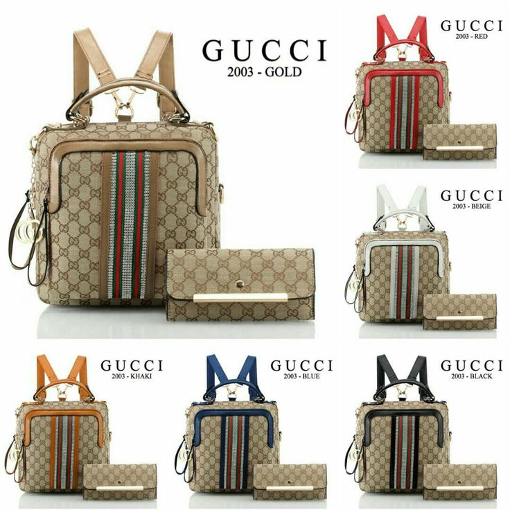Ransel Gucci Ayu Tingting 2003# 3 Fungsi 2in1 Material Kanvas Kwalitas Semi Premium Size 25x10x25cm Dompet 19x10cm Berat 1KG 6 Warna: Gold, Red, Beige, Khaki, Blue, Black Harga: Rp.260.000