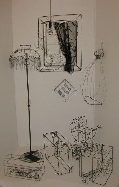 Wire installation of an Attic by Janine Larson