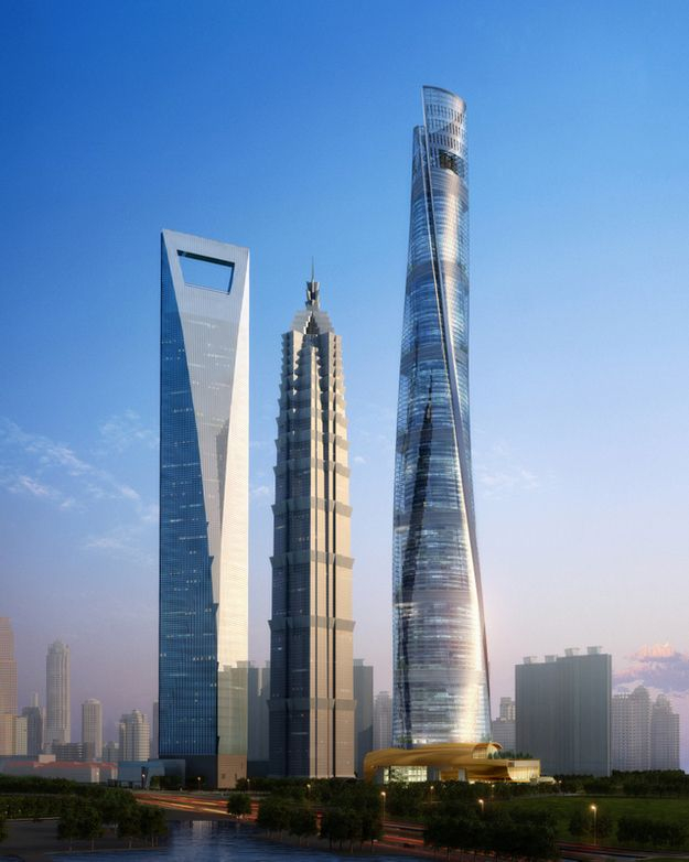The Shanghai Tower rises high above a forest of skyscrapers | The Second Tallest Building On Earth Has Officially Topped Out