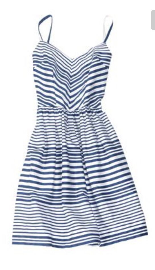 Great blue and white stripe spaghetti strap summer dress. Stitch fix spring summer 2016.  So pretty!