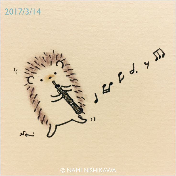 1146 オーボエ  an oboe  トランペット、ティンパニ、オーボエ… オーケストラシリーズ描いてみますね