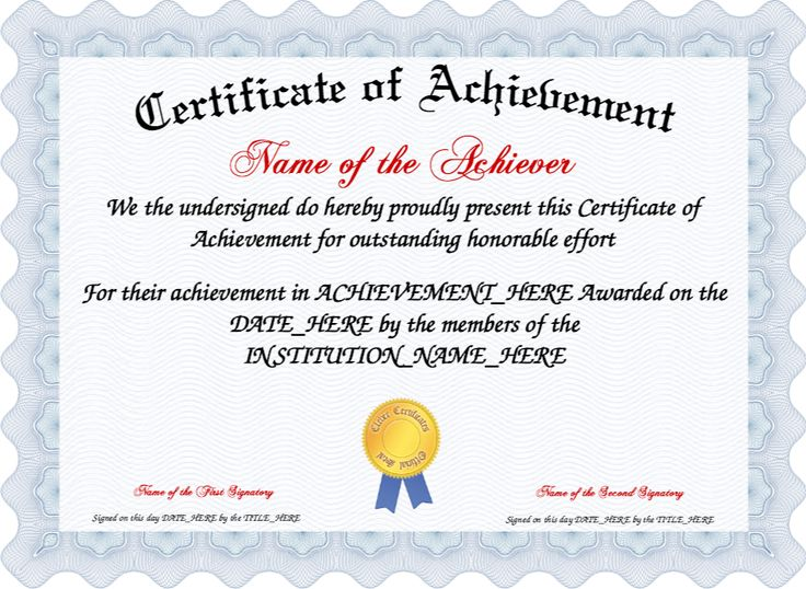 Best 25+ Certificate Of Achievement Template Ideas On Pinterest   Examples  Of Award Certificates  Certificate Of Achievement Sample