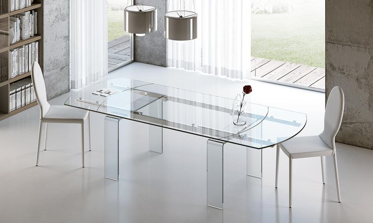 Tavolo ovale allungabile in vetro Lord Tavolo ovale allungabile ...