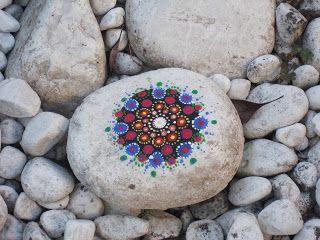 Gartenäffchen: Mandalasteine