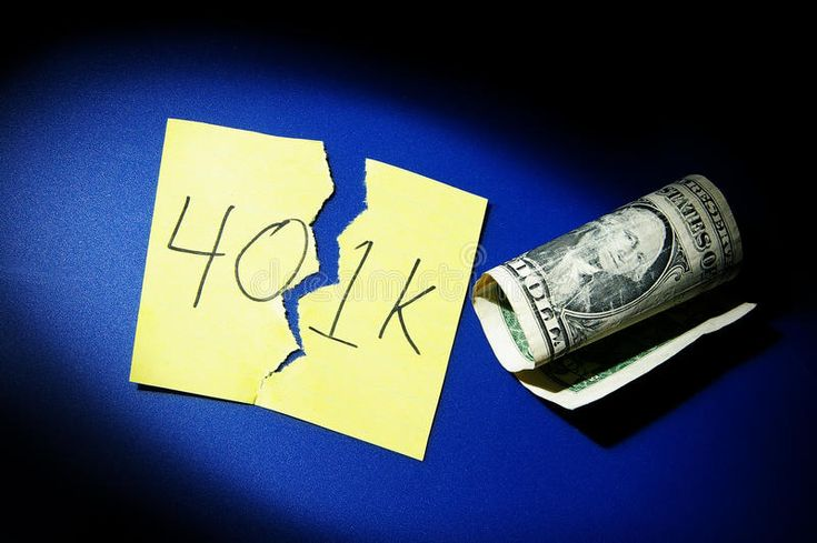 401k trouble. Torn 401k note and dollar bill , #AD…