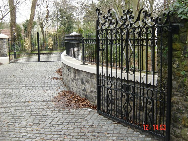 1000+ Images About Custom Wrought Iron Driveway Gates By