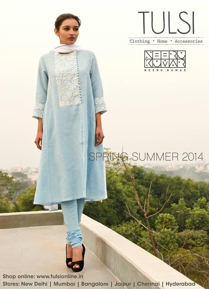 ice blue salwar kameez from tulsi online