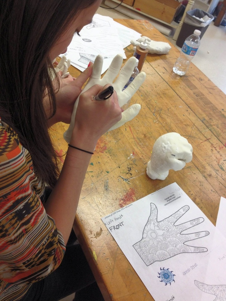 how to make a hand out of plaster of paris