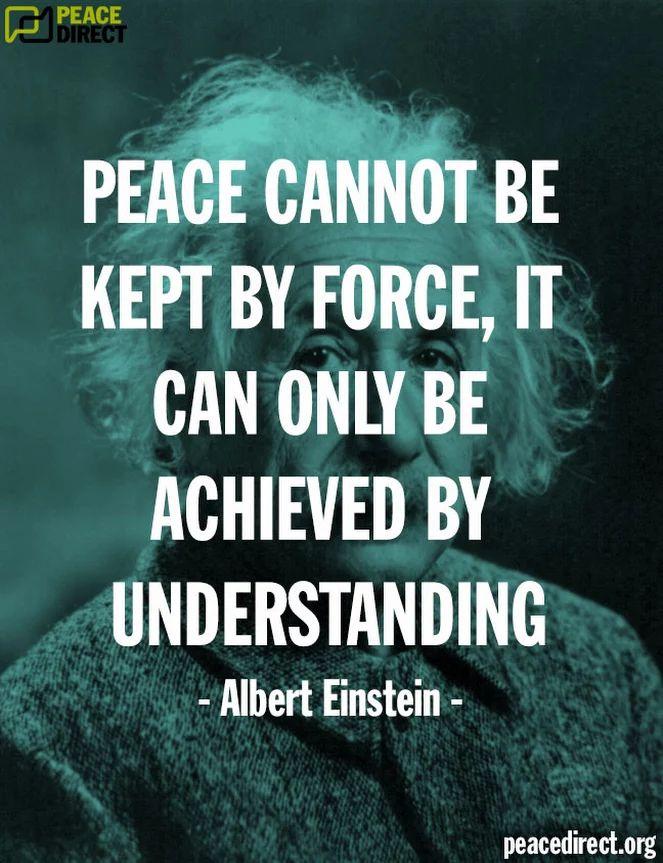 __ⓠ Albert Einstein #Peace