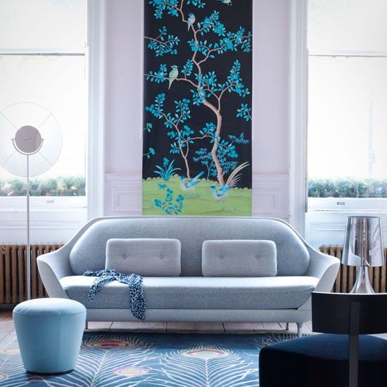 Decorative panels are so easy to hang and to move around, making them the ideal solution for adding temporary decorative interest to a living room!
