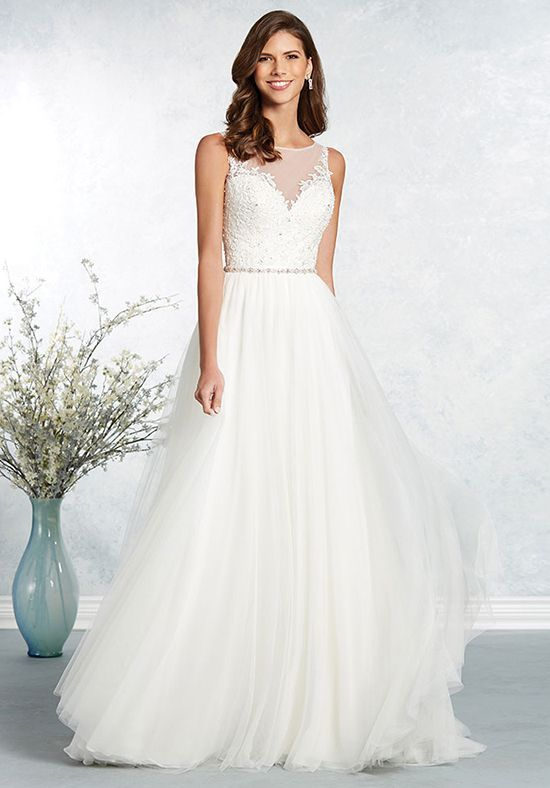 Featured Dress: Alfred Angelo; Wedding dress idea.