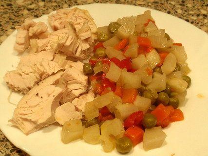 Dušená zeleninová směs s topinambury