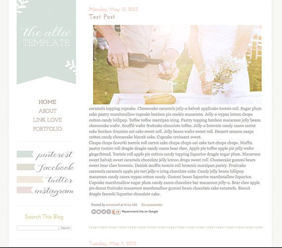 58 best Blogger Templates images on Pinterest | Blogger templates ...