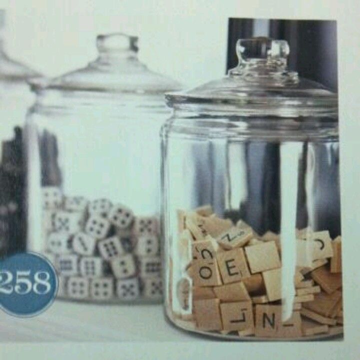 Game Room Decoration Tip: Put Classic Game Pieces Into Glass Containers For  An Interesting Accent (Dominoes, Scrabble, Chess, Dice, Etc.