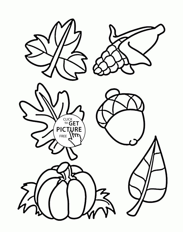 Fall Things coloring pages for kids, autumn printables free - Wuppsy.com