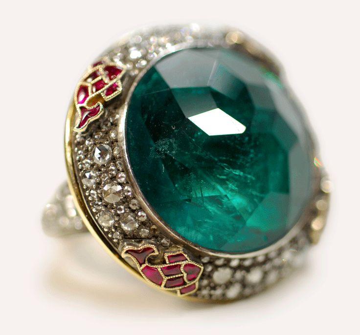 Emerald Poison Ring Munnu The Gem Palace Indian