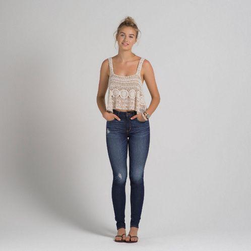 Womens A&F Alyssa Super Skinny High Rise Jeans