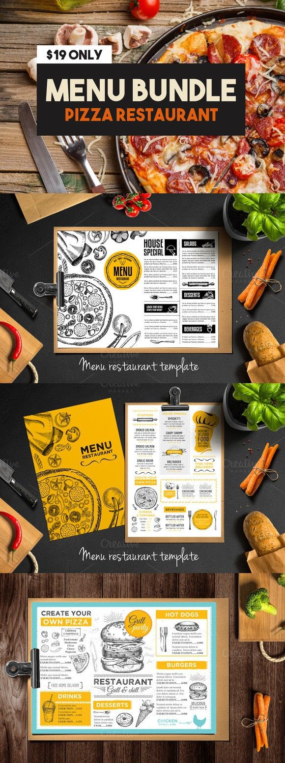 Best Zq Images On   Menu Templates Print